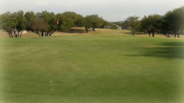 A view of a hole at Pecan Plantation Country Club