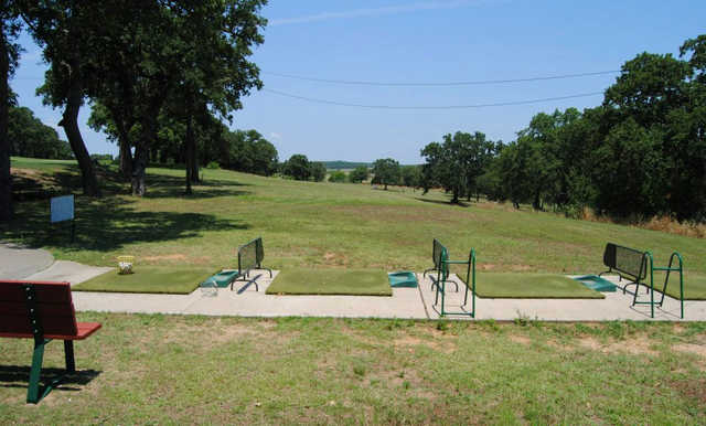 A view of the driving range at Top O' The Lake Country Club