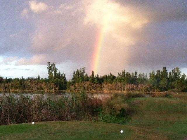 A view from a tee at Park Ridge Golf Course