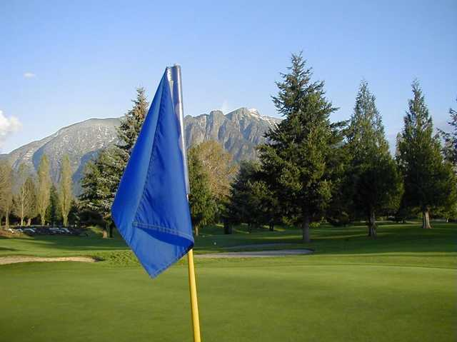 A view from the 9th green at Mount Si Golf Course