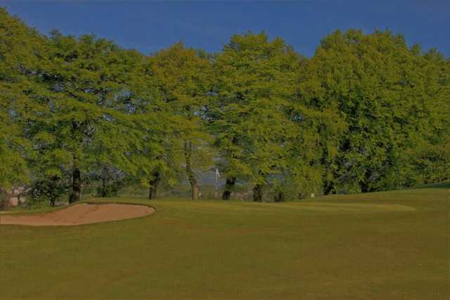 A view of a hole at Vale of Leven Golf Club