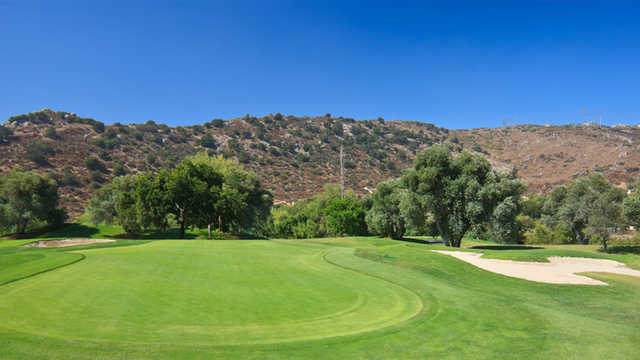 A view of the 10th green from Willow Glen at Singing Hills Golf Resort from Sycuan.