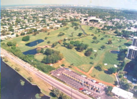 Aerial view of Pinecrest Golf Course