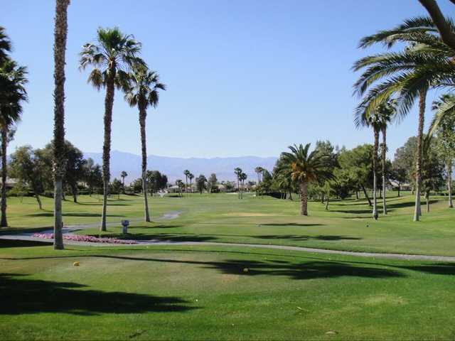 A view from a tee at Desert Princess Country Club