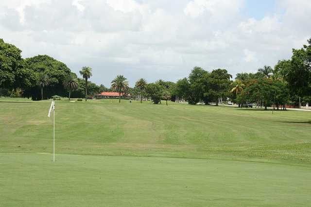 A view of a hole and a fairway at Granada Golf Course (City of Coral Gables)