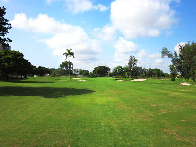 A view from a fairway at Ocean Breeze Golf & Country Club