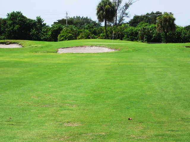 A view of a green at Ocean Breeze Golf & Country Club