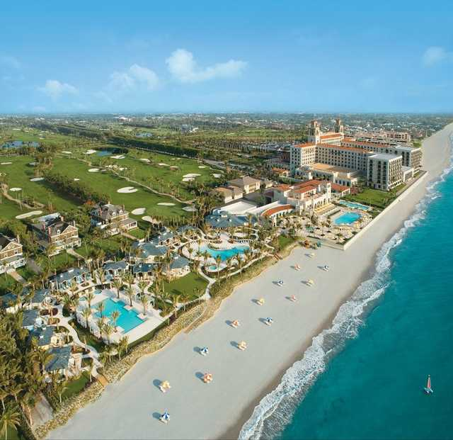 Aerial view from Ocean Course at The Breakers
