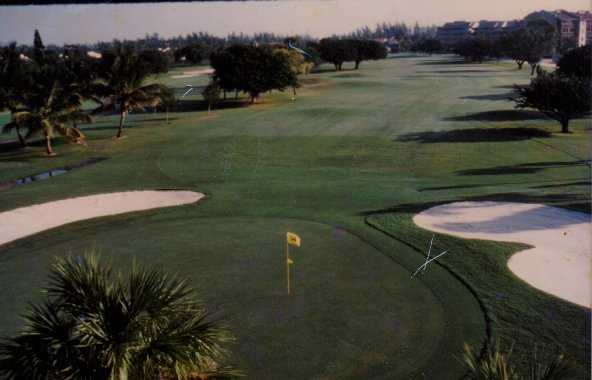 A view of a hole at Everglades Golf Course