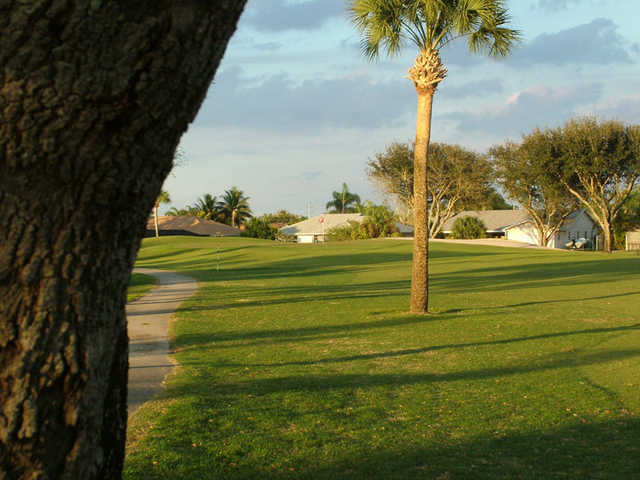 A view from the left side of fairway #3 at Village Golf Course