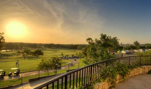 A view from the clubhouse at Sky Creek Ranch Golf Club
