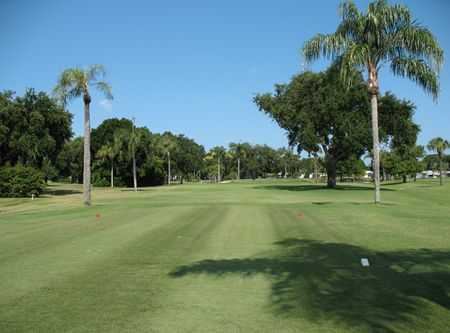 A view from a tee at Fairway Village Golf Course