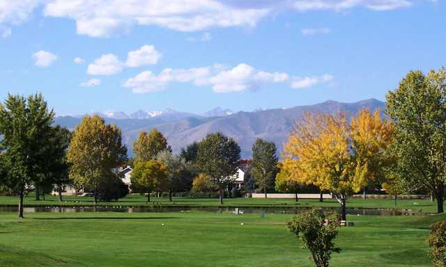 A fall view from Twin Peaks Golf Course