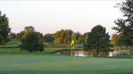 A view of the 16th green at Ashland Golf Club
