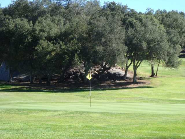 A view of hole #9 at Boulder Oaks Golf Club