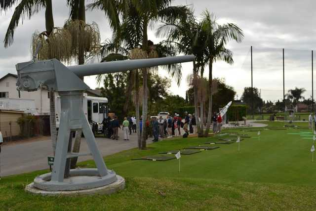 A view of the practice area at Seal Beach Navy Golf Course