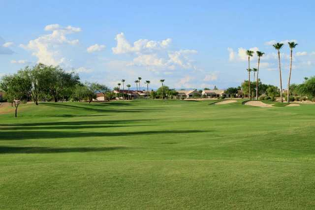 A view of the 1st fairway at Desert Springs Golf Course (Grand Golf)
