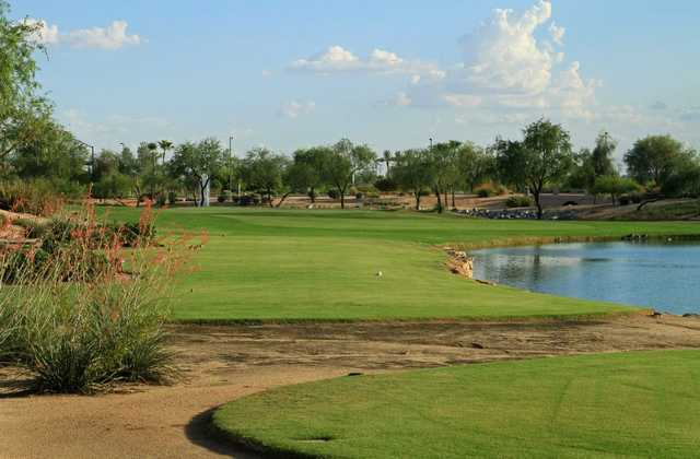 A view of from tee #6 at Desert Springs Golf Course (Grand Golf)