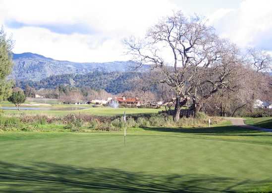 A view of a hole at Vintner's Golf Club