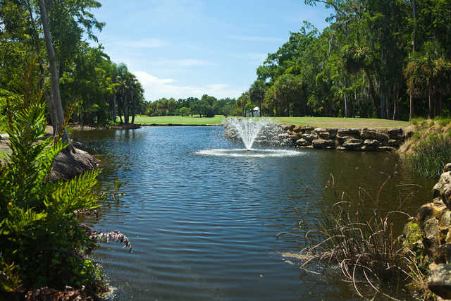 A view of tee #16  at Country Club of Naples.