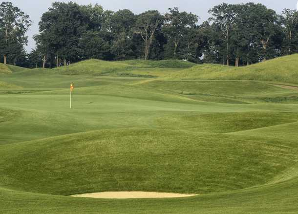 A view of the1st hole at Senator Course from Capitol Hill Golf Club