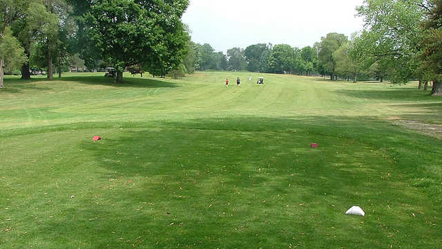 A view of the 8th fairway from the tee at Legacy Hills Golf Club