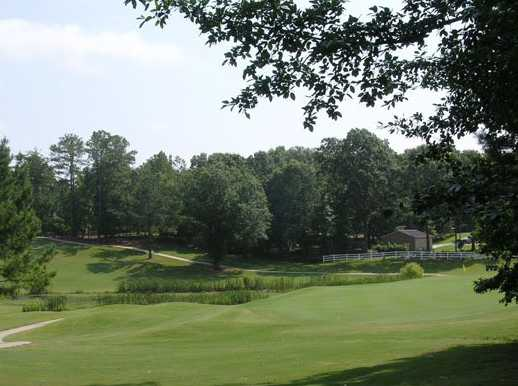 A view of a green at Magnolia Meadows Golf Course