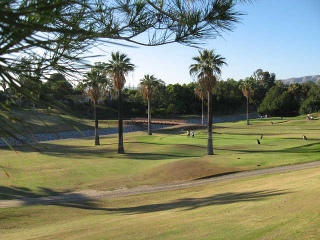 View of the 9th green from Brea Creek Golf Course