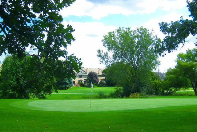 A view of a hole at Carriage Greens Country Club