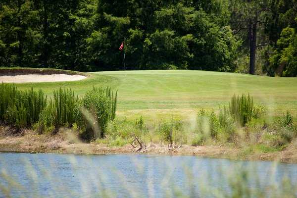 A view over the water from Eagles Golf Club