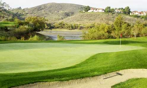 A view of an undulating green at Strawberry Farms Golf Club