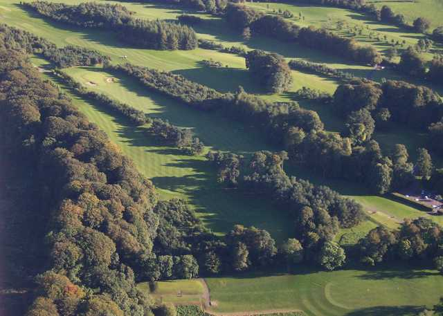Aerial view from Moyola Park Golf Club