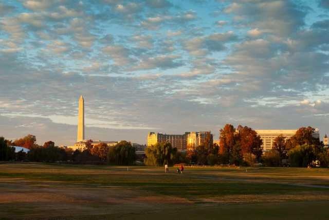 A view from East Potomac Golf Course