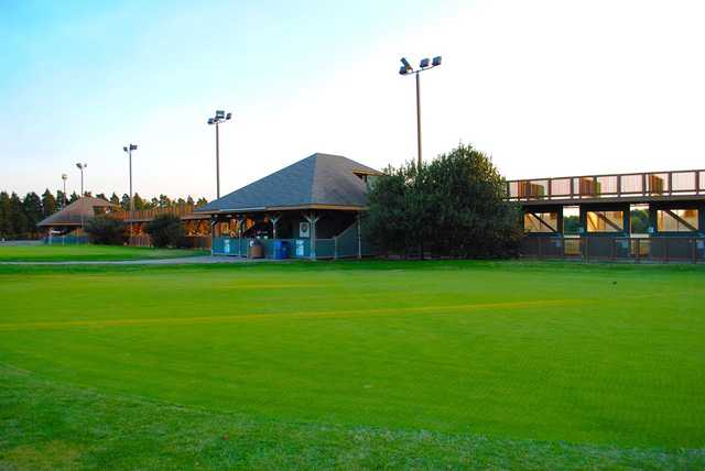 A view of the driving range at East Potomac Golf Course