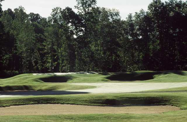 A view of the 5th green at Blue Mash Golf Course