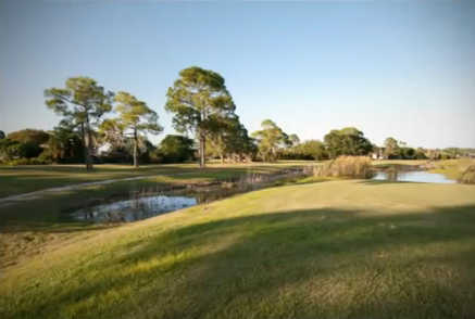A sunny day view from Riverbend Golf Course