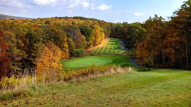 A fall view from Country Club of the Poconos Municipal Golf Course