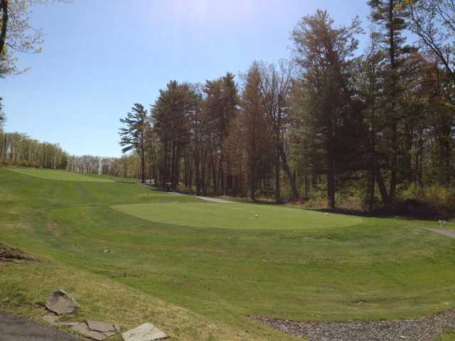 A view of a tee from Country Club of the Poconos Municipal Golf Course