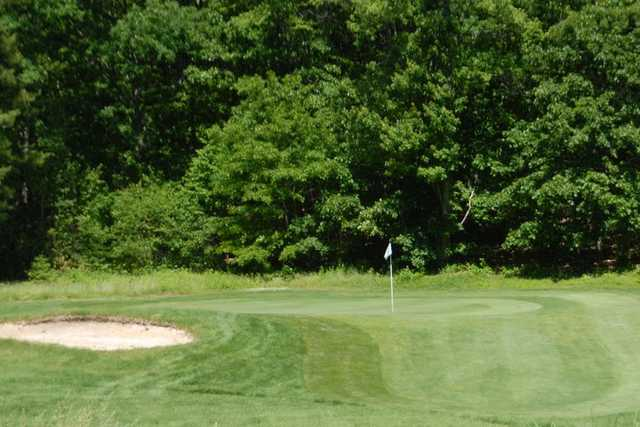 A view of a green from Country Club of the Poconos Municipal Golf Course