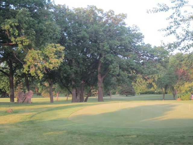 A view of the practice area at Hayden Hills Golf Course