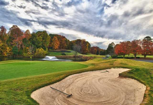 A view of a green at North from Raintree Country Club