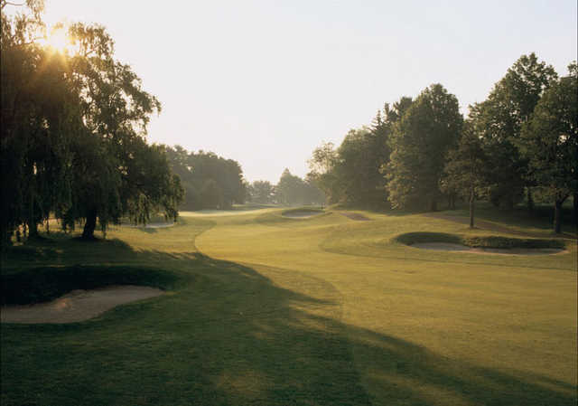 A view of hole #1 at River Vale Country Club