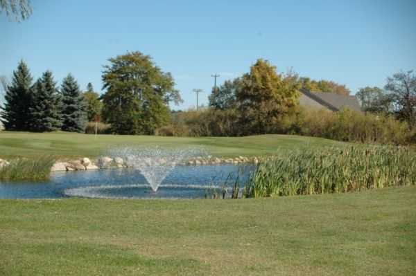 A view over a pond at Whispering Willows