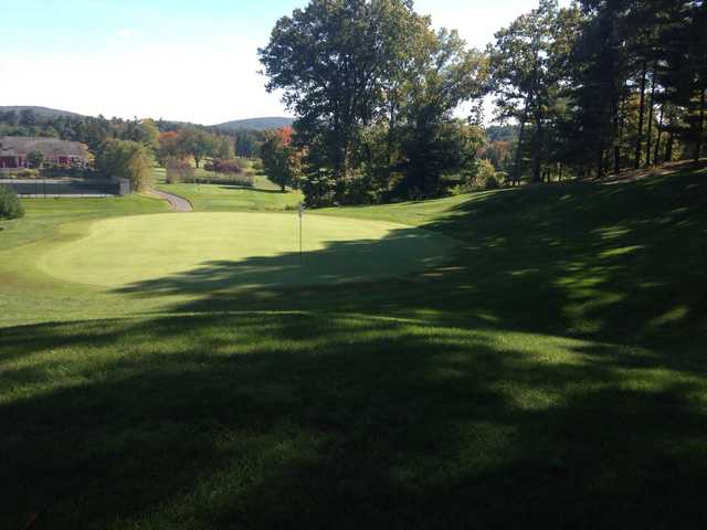 A view of a hole at Hop Meadow Country Club