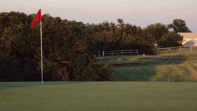 A view of a hole at River Creek Park Golf Course