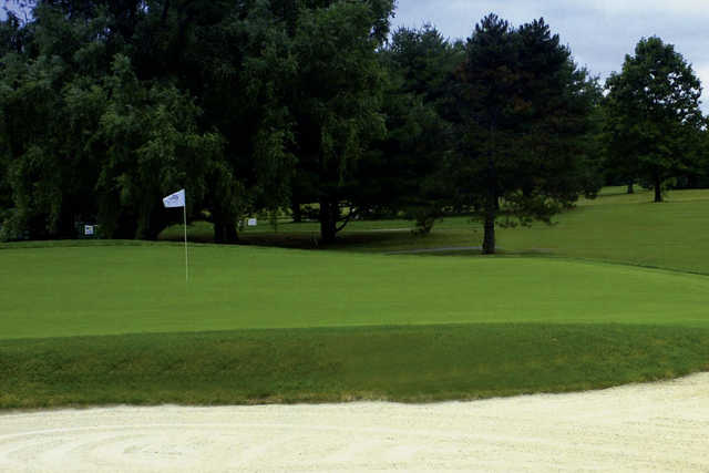 A view of a hole at Cranbury Golf Club