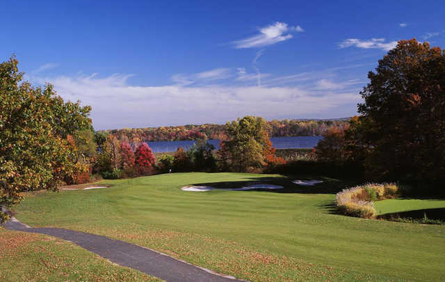 A view of hole #6 at River Vale Country Club