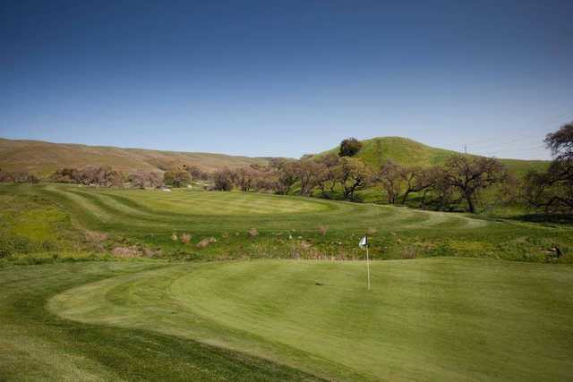 A view of a hole at Coyote Creek Golf Club