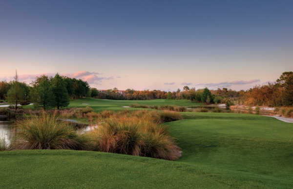 A view of the hole #13 at Orange Lake Resort - The Legends Course