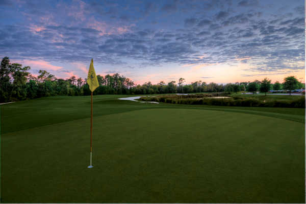Sunset over the hole #14 at Orange Lake Resort - The Legends Course